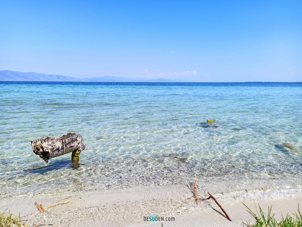 Aegean-like beach at the Lake Sevan, Armenia