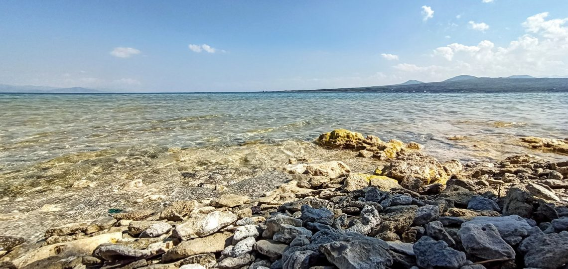 A few meters away, the shore was so rocky, like the usual Sevan