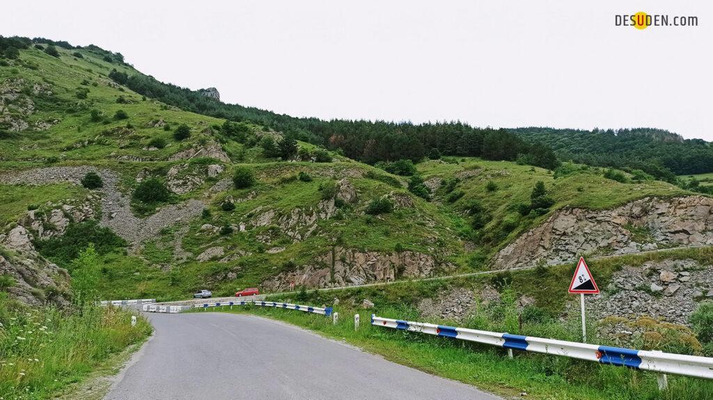 The road from Stepanavan to Alaverdi