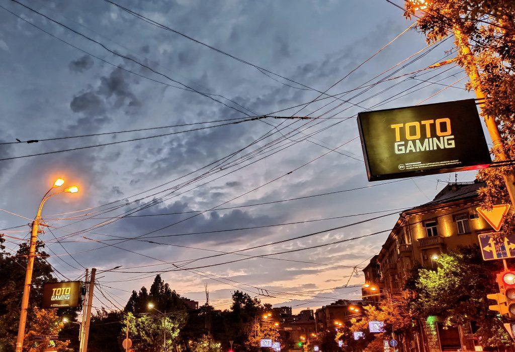 Yerevan city evening skies