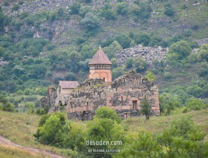 Hnevank monastery. Kurtan canyon, Lori region
